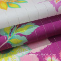 cotton floral print lurex fabric